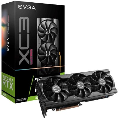 PLACA DE VÍDEO EVGA NVIDIA GEFORCE RTX 3070 XC3 ULTRA GAMING, 8GB, GDDR6, ICX3 COOLING, ARGB LED - 08G-P5-3755-KR