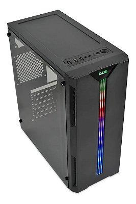 GABINETE GAMER EVUS ATX G13 COM FITA LED RGB ACRÍLICO - EV-G13