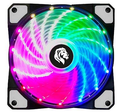 COOLER HAYOM LED RGB, P/ GABINETE,  12CM - FC1302
