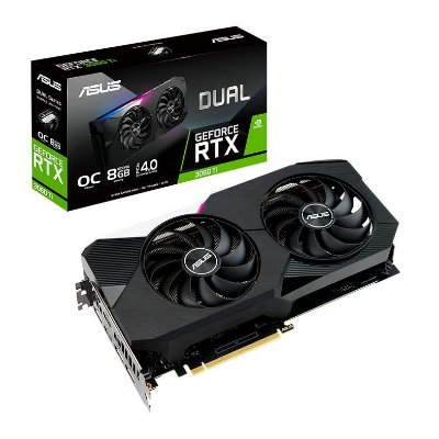 PLACA DE VIDEO ASUS GEFORCE RTX 3060 TI OC 8GB GDDR6 DUAL 256-BIT - DUAL-RTX3060TI-O8G