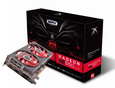 PLACA DE VÍDEO XFX RX 550 4GB DDR5 128BITS, DUAL  FAN - RX-550P4PFG5