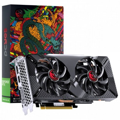 PLACA DE VÍDEO PCYES, GEFORCE RTX 2060 DUAL OC, GRAFFITI SERIES, 6GB, GDDR6, 192BIT - PPGF2060DR6192