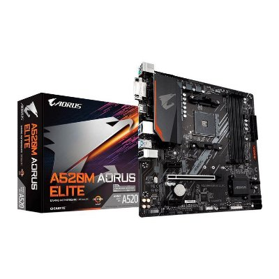 PLACA MAE GIGABYTE A520M AORUS ELITE DDR4 SOCKET AM4 CHIPSET AMD A520