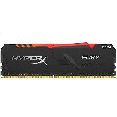 MEMÓRIA HYPERX FURY RGB, 16GB, 2666MHZ, DDR4, CL16, PRETO - HX426C16FB3A/16