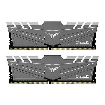 MEMORIA TEAM GROUP T-FORCE DARK Z 32GB (2X16) DDR4 3200MHZ CINZA - TDZGD432G3200HC16CDC01
