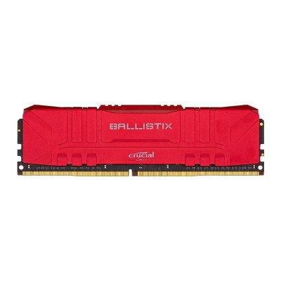 MEMORIA CRUCIAL BALLISTIX 8GB (1X8) DDR4 3000MHZ VERMELHA - BL8G30C15U4R