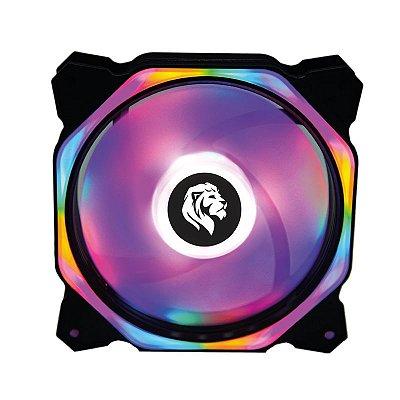 COOLER HAYOM LED RGB, P/ GABINETE,  12CM - FC1301