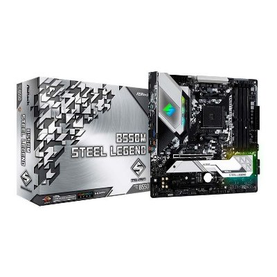 PLACA MAE ASROCK B550M STEEL LEGEND DDR4 SOCKET AM4 CHIPSET AMD B550