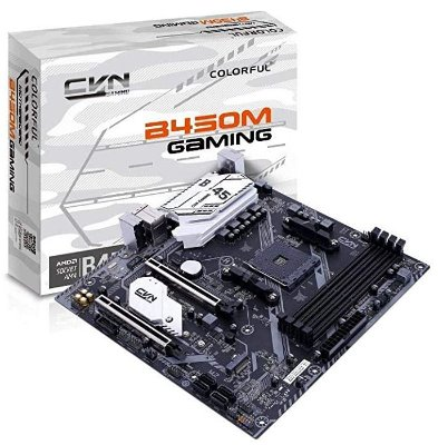 PLACA MÃE COLORFUL CVN B450M GAMING V14,AMD B450, SOQUETE AM4