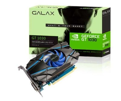 PLACA DE VIDEO GALAX GEFORCE GT 1030 2GB GDDR5 64-BIT - 30NPH4HVQ4ST