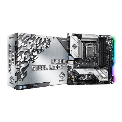 PLACA MAE ASROCK B460M STEEL LEGEND DDR4 SOCKET LGA1200 CHIPSET INTEL B460