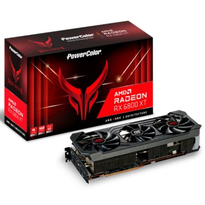 PLACA DE VÍDEO POWERCOLOR RADEON RX 6800 XT RED DEVIL, 16GB, GDDR6, 256BIT - AXRX 6800XT 16GBD6-3DHE/OC
