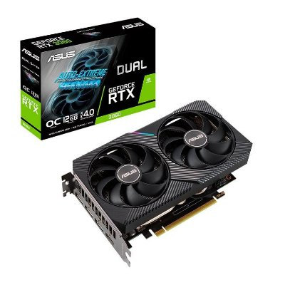 PLACA DE VIDEO ASUS GEFORCE RTX 3060 OC 12GB GDDR6 DUAL 192-BIT - DUAL-RTX3060-O12G