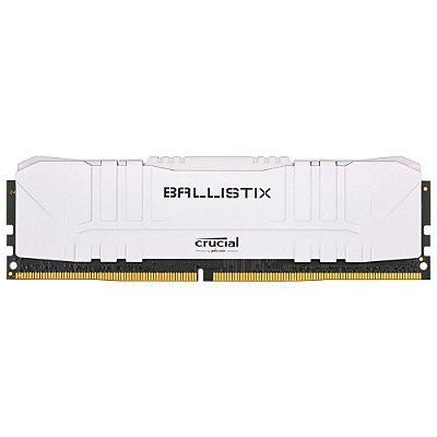 MEMÓRIA CRUCIAL BALLISTIX 8GB DDR4 3000 MHZ, CL15, BRANCO - BL8G30C15U4W