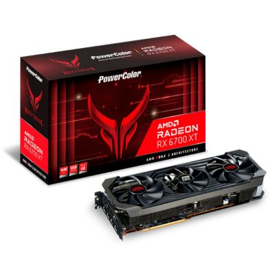 PLACA DE VÍDEO POWERCOLOR RED DEVIL RADEON RX 6700 XT, 12GB, GDDR6, 192BIT - AXRX 6700XT 12GBD6-3DHE/OC