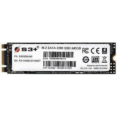 SSD M.2 240GB S3+ SATA3 6GB/S - S3SSDA240