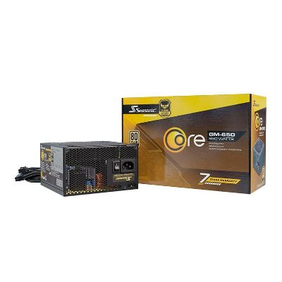FONTE SEASONIC CORE GM-650W SEMI MODULAR 80 PLUS GOLD - CORE GM-650