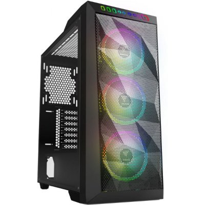 GABINETE GAMER GAMDIAS ATHENA M1, MID-TOWER, VIDRO TEMPERADO, BLACK, SEM FONTE, SEM FAN