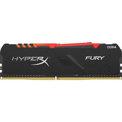 MEMÓRIA DDR4 KINGSTON HYPERX FURY RGB, 8GB 2666MHZ, BLACK - HX426C16FB3A/8