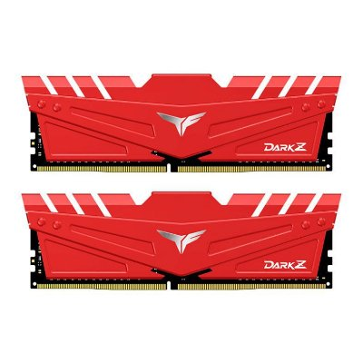 MEMORIA TEAM GROUP T-FORCE DARK Z 16GB (2X8) DDR4 3200MHZ VERMELHA - TDZRD416G3200HC16CDC01