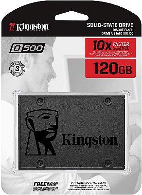 SSD KINGSTON Q500 120GB, SATA, LEITURA 500MB/s, GRAVAÇÃO 320MB/s - SQ500S37/120G