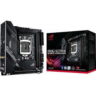 PLACA MÃE ASUS ROG STRIX B460-I GAMING WI-FI, CHIPSET B460, INTEL LGA 1200, MINI-ITX, DDR4