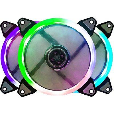 COOLER FAN BLUECASE RING BFR-07RGB, RGB AUTOMÁTICO, 12CM - BFR07RGBCASE