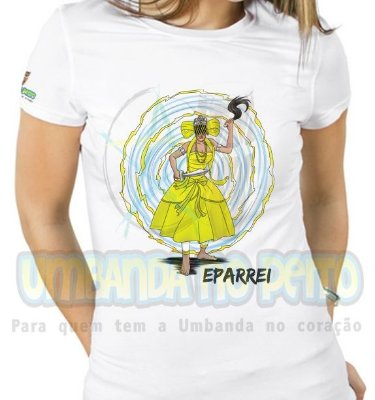 Baby Look Iansã Dona dos Ventos (amarela)