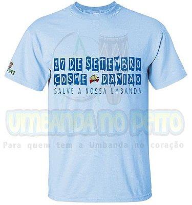 Camiseta Festa em 27 de Setembro (Azul / Rosa)