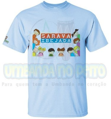 Camiseta Criançada (Azul / Rosa)