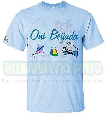 Camiseta Azul Oni Beijada