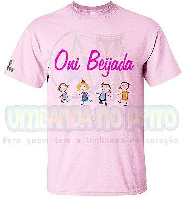 Camiseta Rosa Oni Beijada