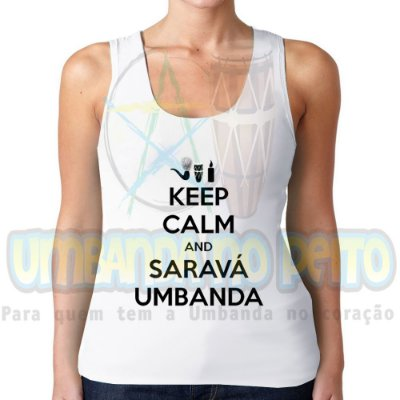 Regatinha Keep Calm and Saravá Umbanda