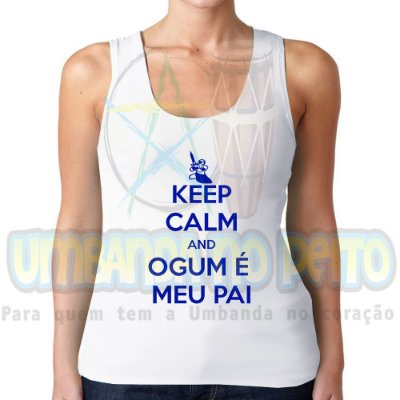 Regatinha Keep Calm and Ogum é Meu Pai