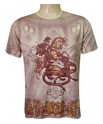 Camiseta São Jorge Templo Viscose
