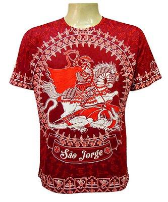 Camiseta Vermelha Coroa de São Jorge Viscose