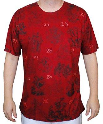 Camiseta Vermelha Dia 23 Viscose
