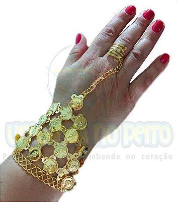 Pulseira Cigana Moedas (com anel)