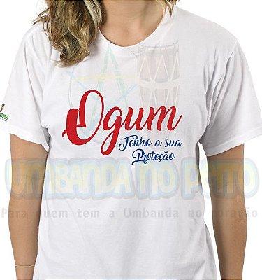 Camiseta  Ogum Tenho a sua Proteção