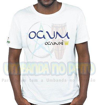 Camiseta Rei Ogum (estampa azul)