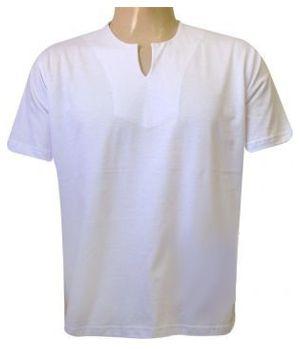 Bata Masculina Branca Lisa (Sem Estampa)