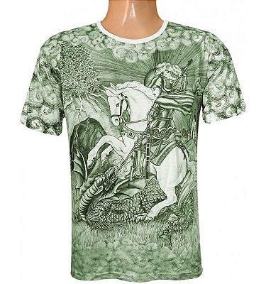 Camiseta Salve São Jorge Guerreiro Viscose