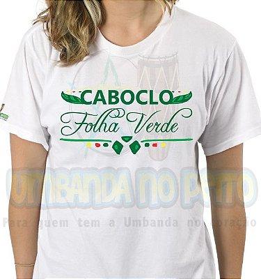 Camiseta Caboclo Folha Verde