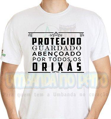 Camiseta Protegido e Guardado