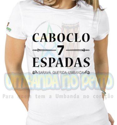 Baby Look Caboclo 7 Espadas