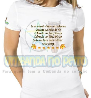 Baby Look Eu Vi Mamãe Oxum na Cachoeira (TAM P)