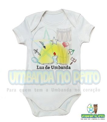 Body Infantil Luz de Umbanda