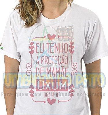 Camiseta Eu Tenho a Proteção de Mamãe Oxum