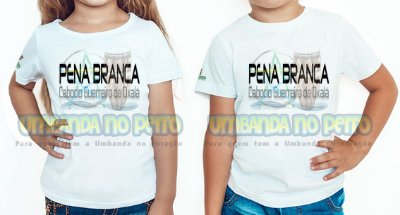 Camiseta Infantil Pena Branca