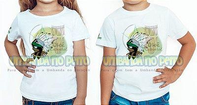 Camiseta Infantil Saravá, Okê Caboclo